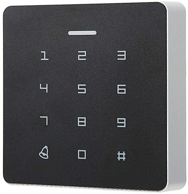 RFID Card Door Access Control, Password Attendance Machine RFID Card Reader Door Access Control Contactless Controller Keypad System with 5 ID Card