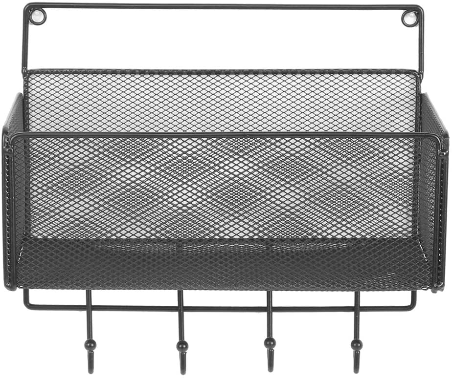 Yosooo Storage Basket for Cosmetics, Household Wall Storage Basket Holder Cosmetics Storage Rack for Kitchen Bathroom(01)