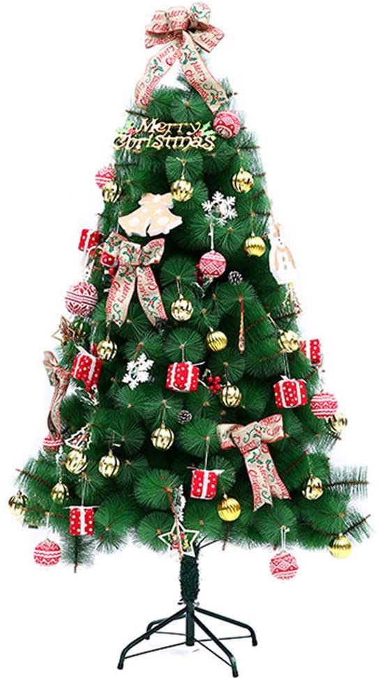 Led Artificial Christmas Tree, Xmas Tree with Lights Ornaments, PVC Easy Assembly Indoor Outdoor Holiday Decor-a 180cm(6 Feet)