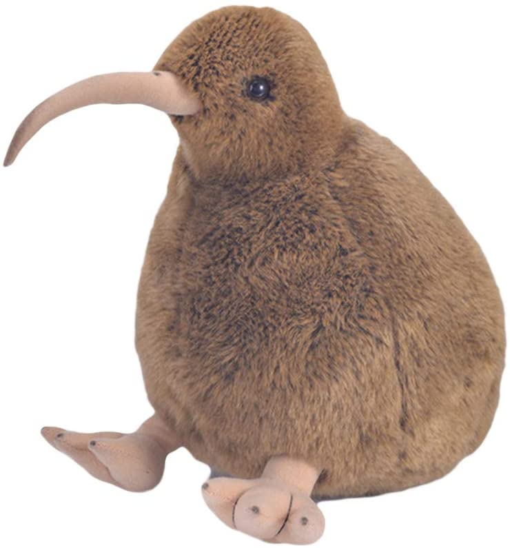 carduran 28cm Cute Lifelike Brown Kiwi Bird Plush Stuffed Doll Home Decor Kids Toy Gift