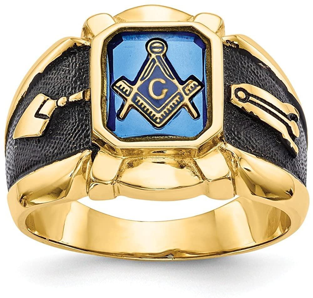 14k masonic ring mounting Size 10 Length Width 4 to 17