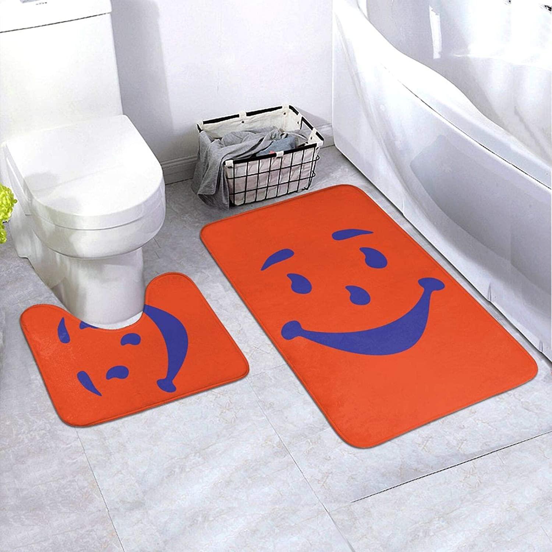 Guoguoding Kool-Aid Non-Slip Bathroom Mat Indoor/Outdoor Carpet, U-Shaped Toilet Floor Mat is Durable, Not Easy to Deform, Durable, and Does Not Damage The Floor.