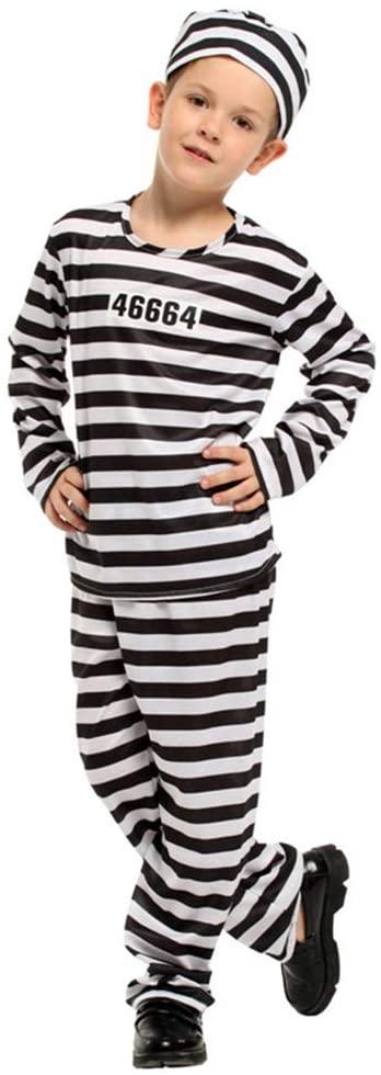 ANSUN Kids Bodysuit Costumes Halloween Cosplay Costumes (130) Black