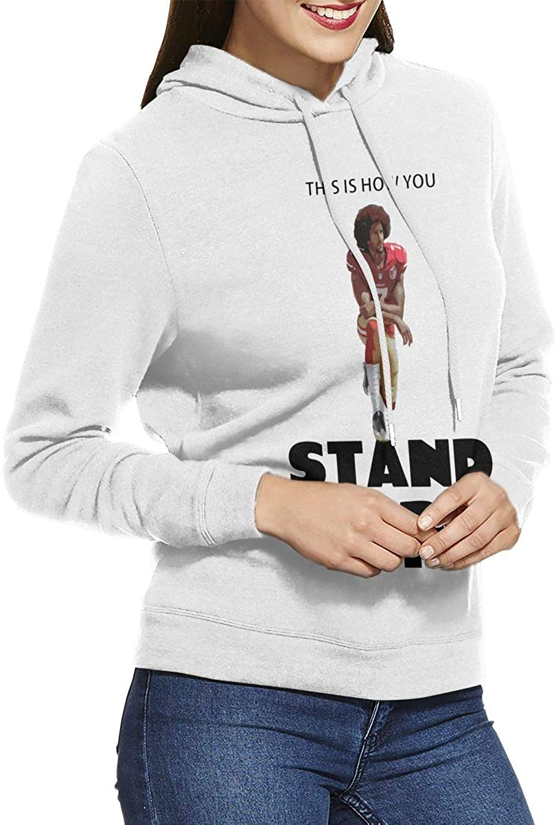 Colin Kaepernick This is How You Stand Up Sweatshirt Women Pullover Sweatshirt Print Hoodies Without Pocket