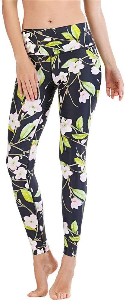 JKGLD Ladies Yoga Pants Workout Yoga Pants Athletic Sport Stretch Yoga Leggings Capris Pants Stretch Workout Pants Running Pants (Color : Green, Size : XL)