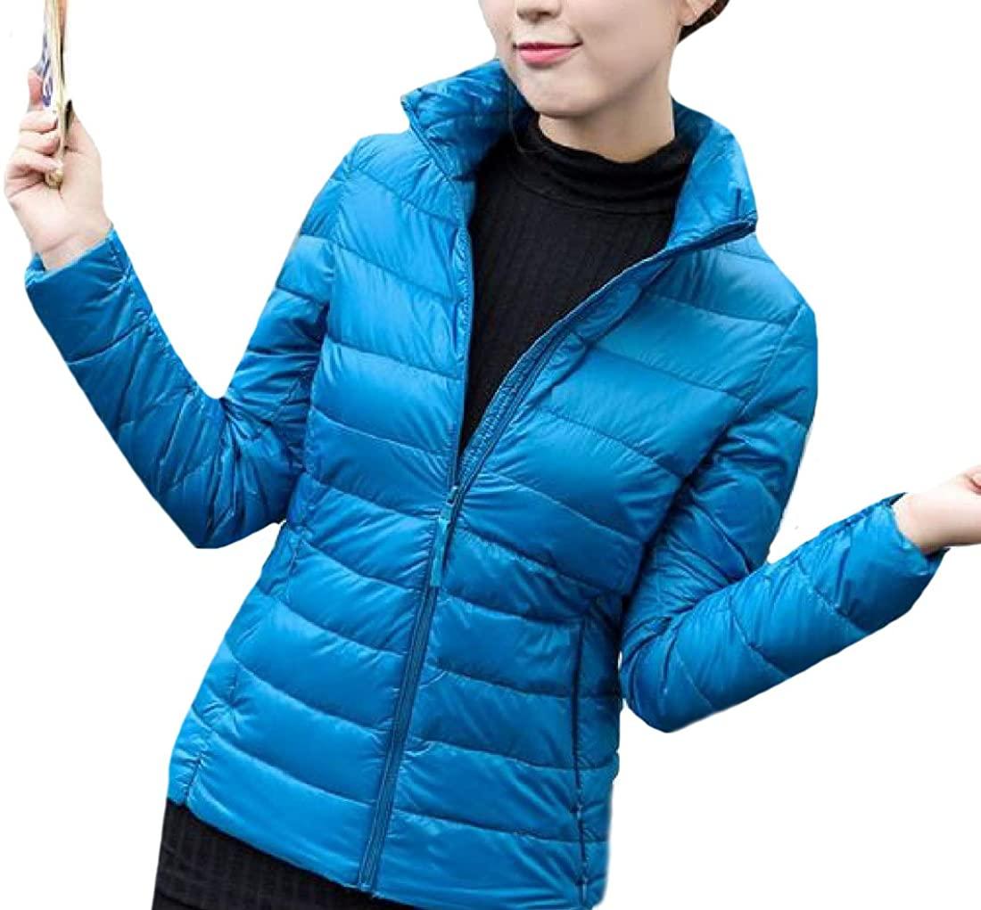 Ruhua Women's Simple Trend Down Coat Lightweight Warm Parka Jacket