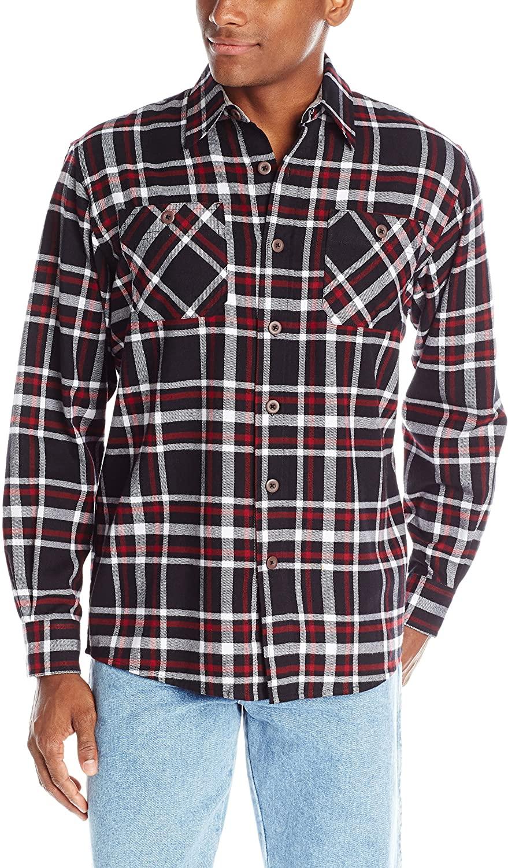 Wrangler Men's Big-Tall Long Sleeve Flannel Shirt