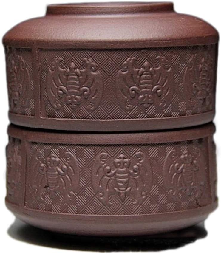 XinQuan Wang Ore Yixing purple clay tea cup kung fu Luck 80 ml cup small cup (Color : Purple mud)