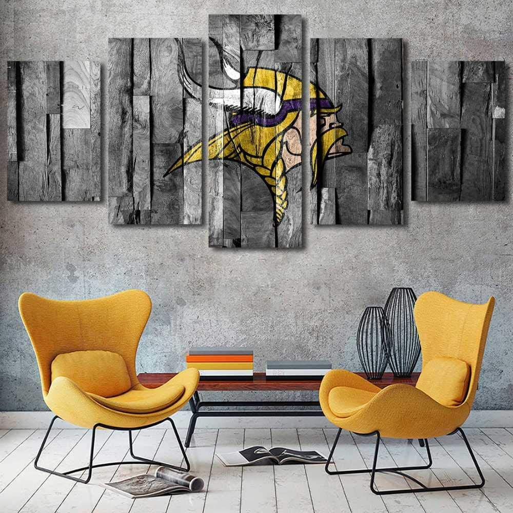 YDME Canvas Prints Art Modular Wall Sticker Decor,Prints On Canvas,5 Piece Painting,Wall Decor Mural Poster Framed American Football Team -200X100cm
