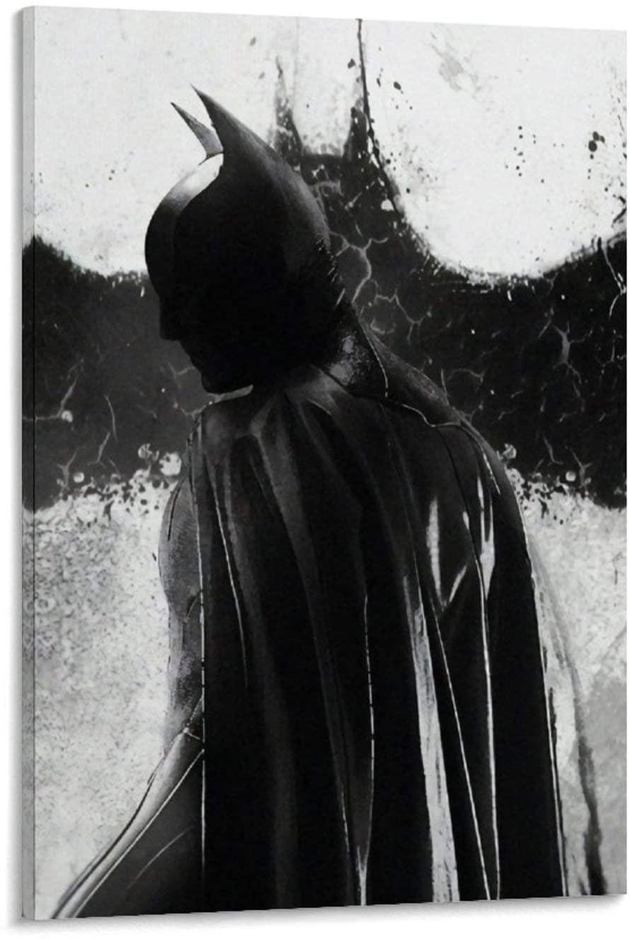 SSKJTC Home Decor for Living Room Batman Concept Art Photo Artistic Comic Animation PaintingsonCanvas 16x24inch(40x60cm)