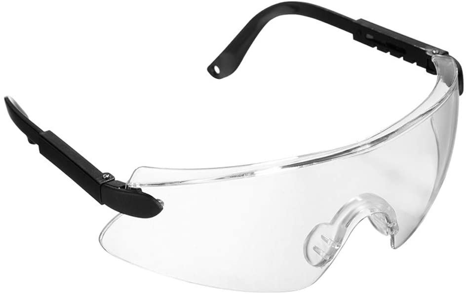 ADUEYE Reinforcer Safety Goggles Clear Lens Safety Eyewear for Dust Droplets Ultraviolet Laboratory Work Safety Eyewear Anti-Fog (Color : Clear)