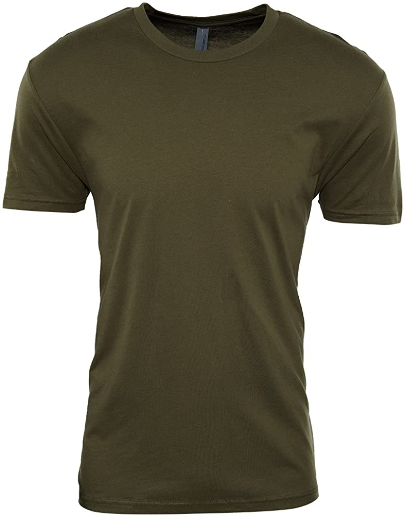 Next Level Premium Fitted CVC Crew Tee Mens Style: N6210-MILITARY Green Size: M