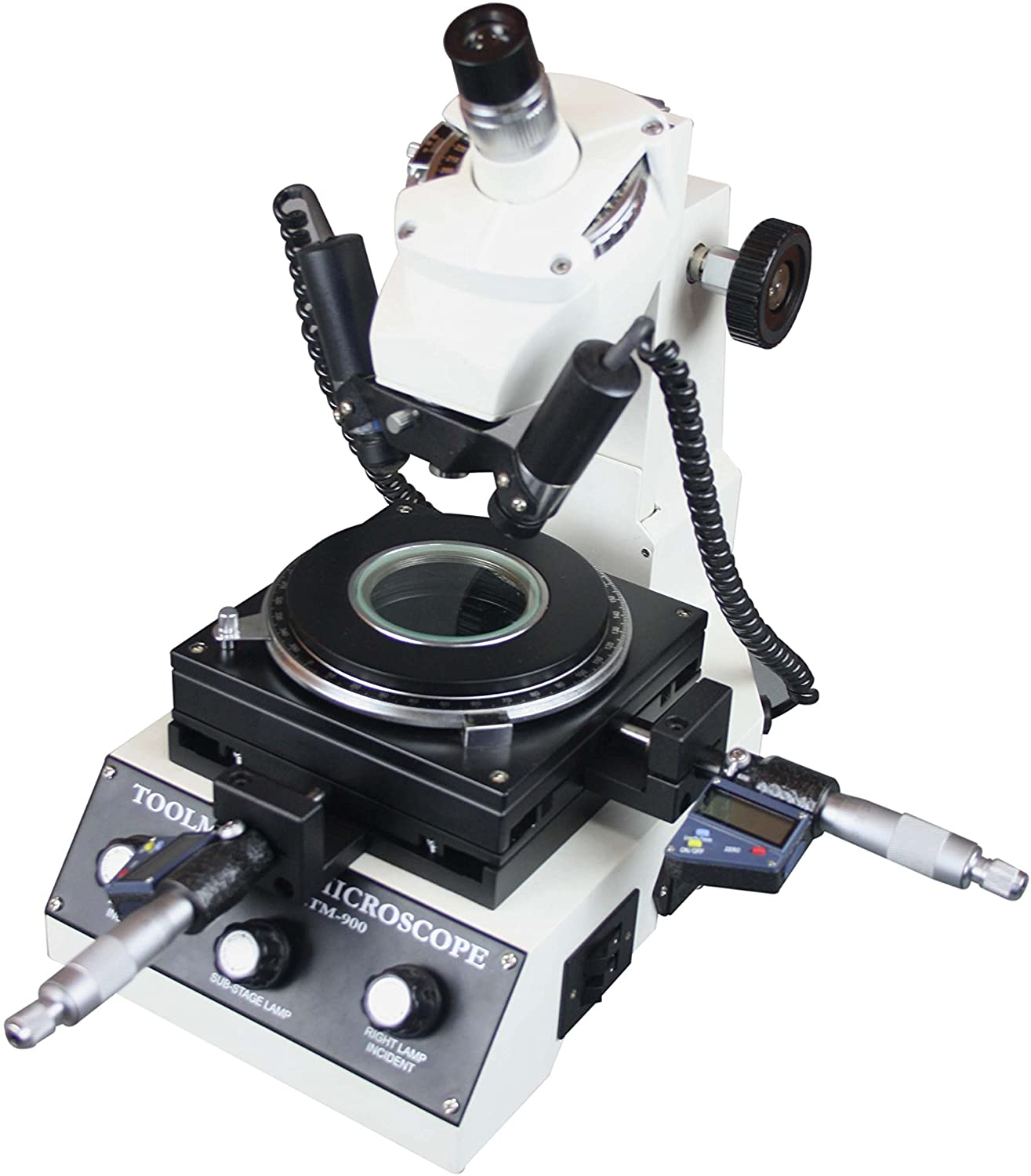 Radical Highly Precise Toolmakers Angle & Linear Industrial Measuring Microscope - Digital Micrometer 1um 0-25mm. mm-inch