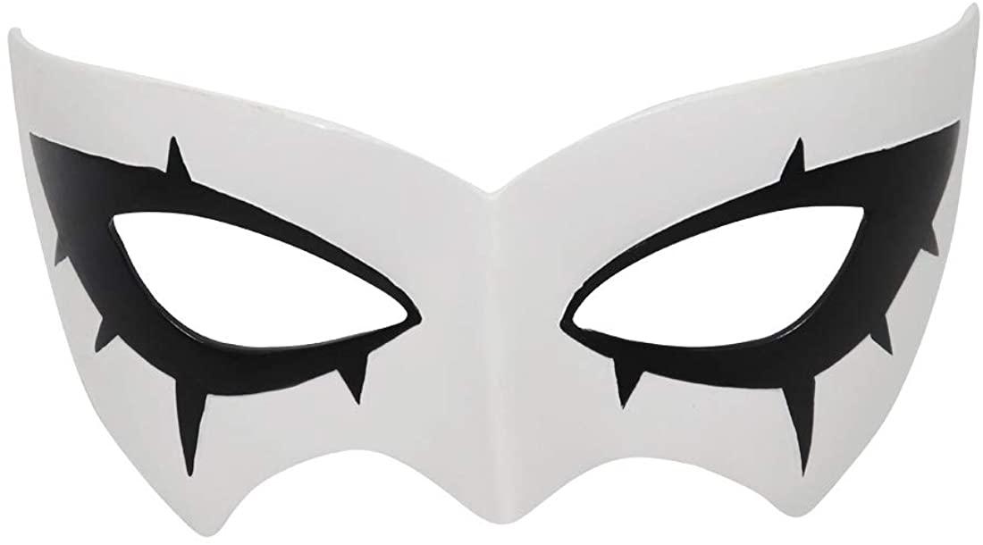 Cafele P5 Persona Eye Mask Lantern Cosplay Nendoroid Eye Mask Ball Party Halloween Mask White