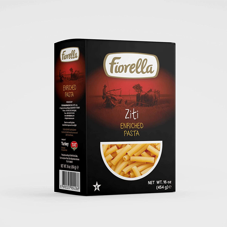 Fiorella Ziti Enriched Pasta, 16 oz, 6 Pack