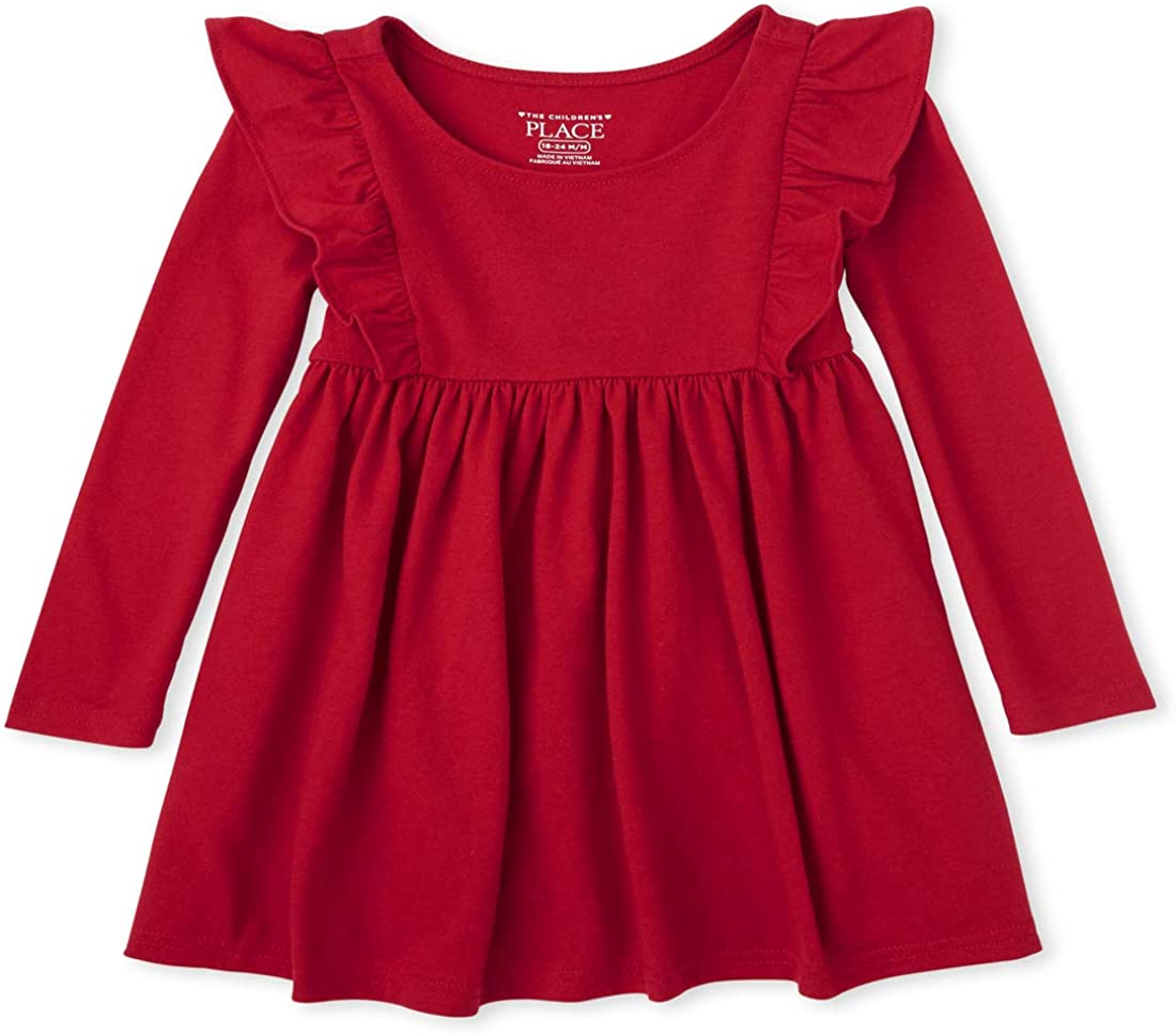 The Children's Place Girls' Baby and Toddler Ruffle Skater Dress