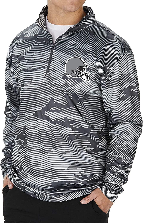 Zubaz NFL Men's Lines Poly Fleece Jacket