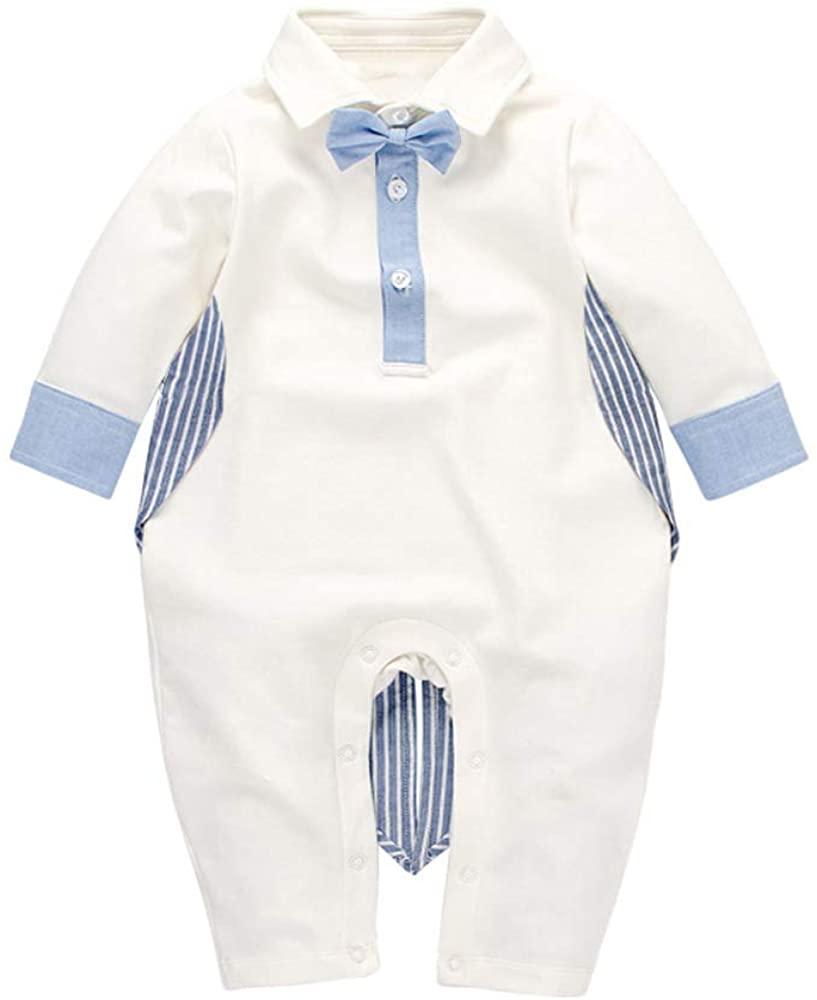 CNbeiBoom Tuxedo Newborn Baby Rompers Cotton Bodysuit with Vest Gentleman Clothes for Boys