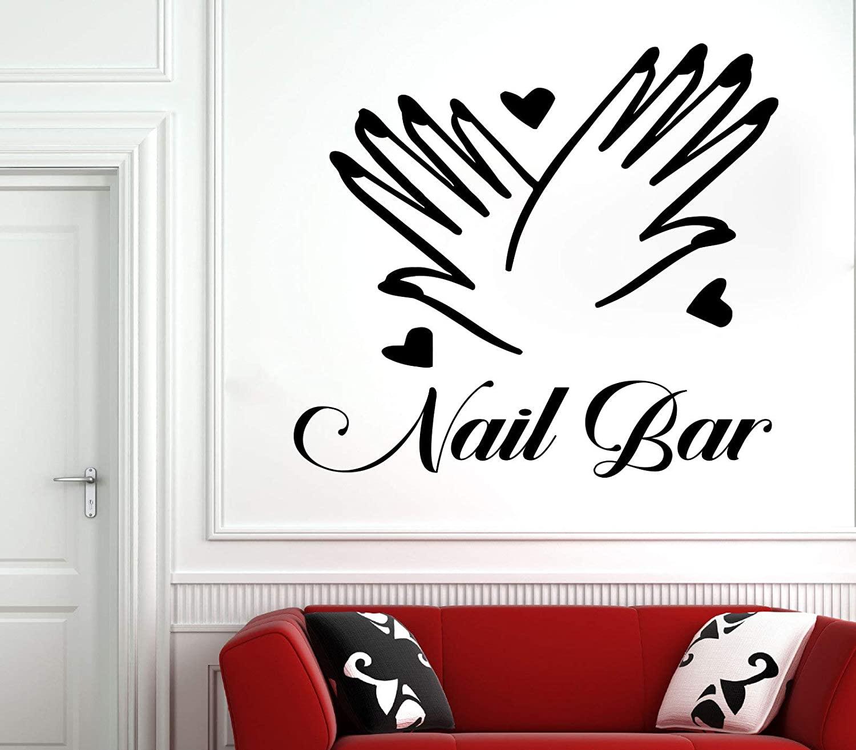 Nail Salon Wall Decal Manicure Pedicure Window Sticker Nail Bar Nail Polish Decal Beauty Salon Spa Wall Decor 4942