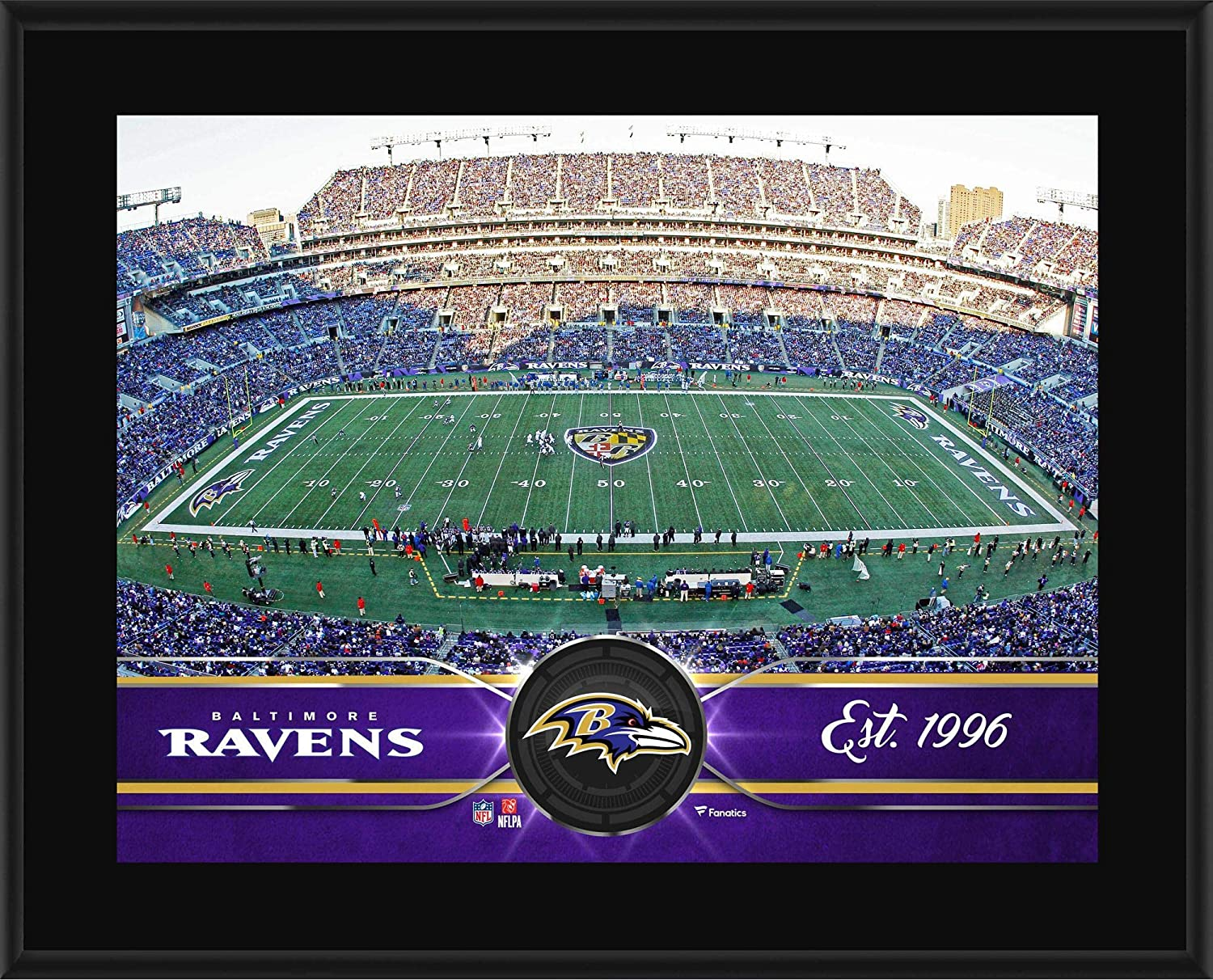 Baltimore Ravens 10.5 x 13 Sublimated Team Plaque - NFL Team Plaques and Collages