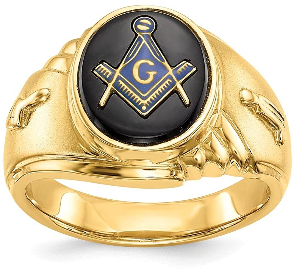 14k yellow masonic ring mounting Size 10 Length Width 4 to 13