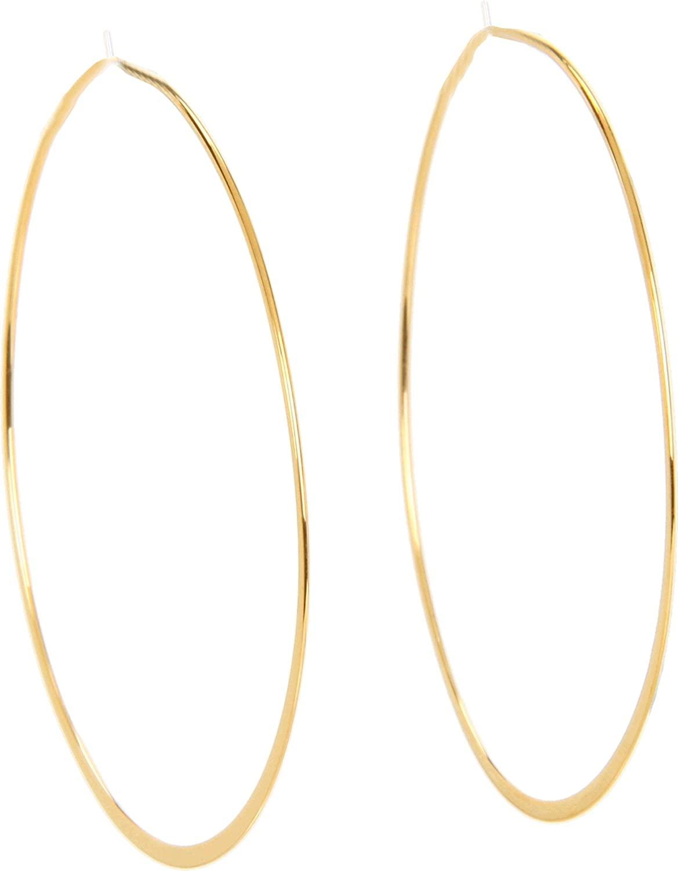 Michael Kors Womens Heritage Whisper Hoop Earrings Gold Hoop Earrings