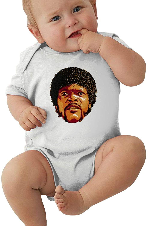 Samuel L. Jackson Newborn&Baby Shortsleeve Bodysuits Cotton Jumpsuit White
