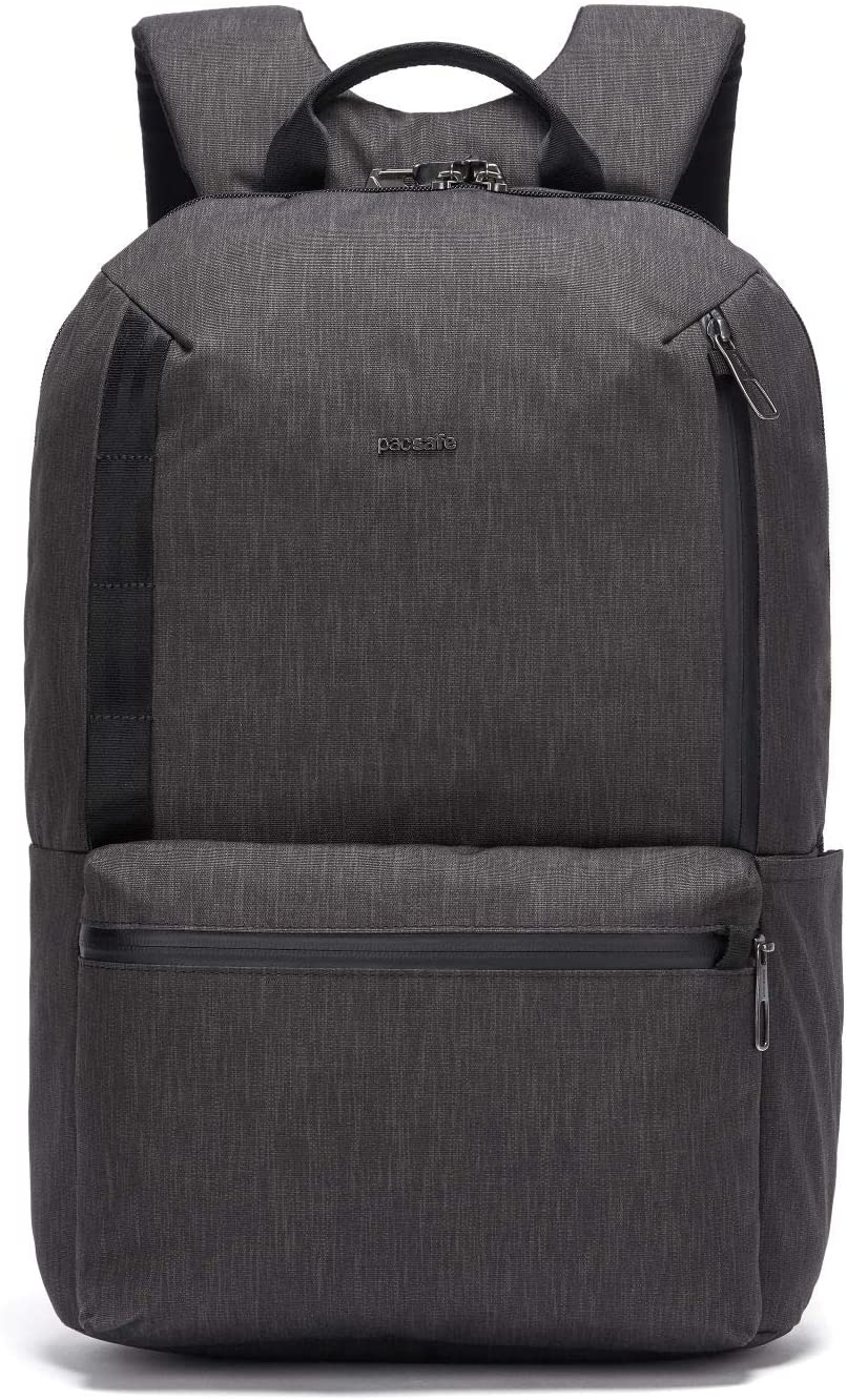 PacSafe Mens Metrosafe X Anti Theft 20L Backpack-with Padded 15 Laptop Sleeve, Carbon, 20.5 Liter
