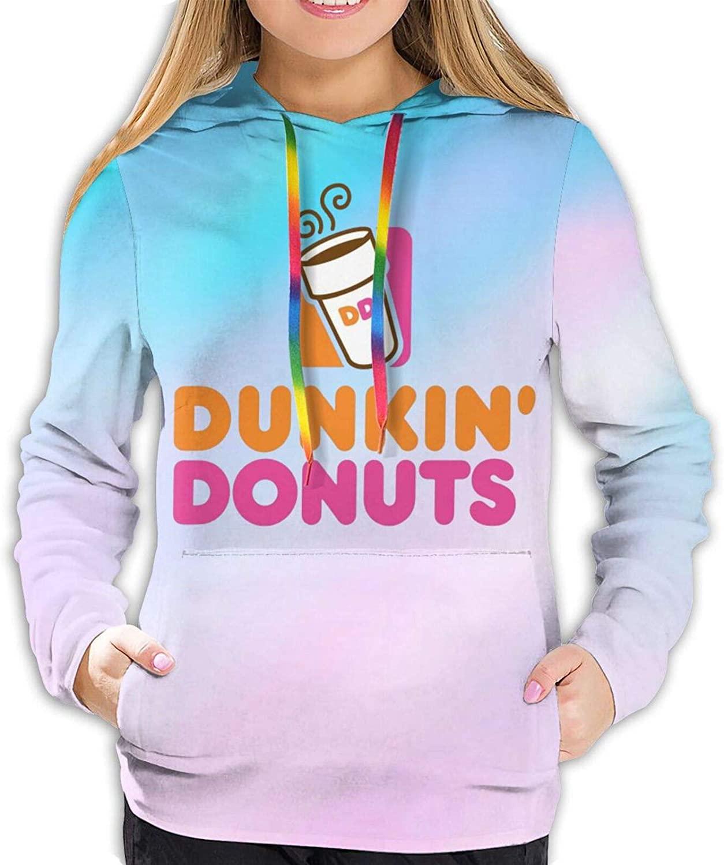 Dunkin Donuts Women's Ultra Soft Casual Pullover Hoodie Sweatshirt
