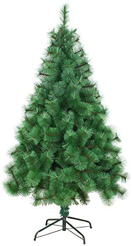 ZPEE Material PVC The Pine Needles Christmas Tree, Artificial Hinged Pine Tree Easy to Assemble Xmas Decoration Bare Tree Without Decoration-3m(9.8ft)