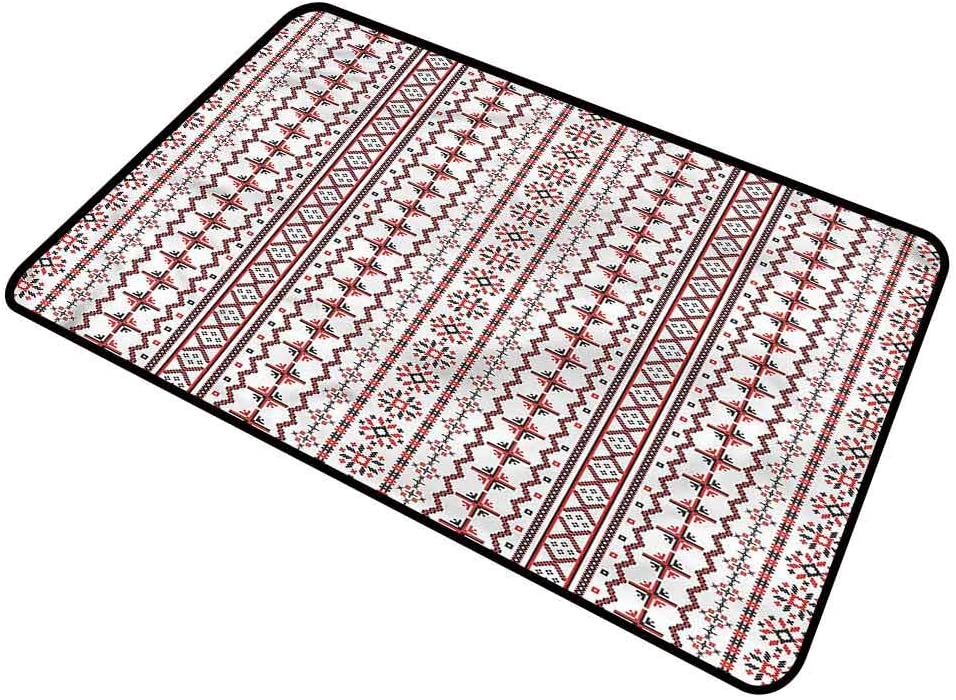 DESPKON-HOME Traditional, Floor Mat Europe Pattern Printed Doormat Waterproof, Easy Clean, Dust Trapper, Eco-Friendly 16x24 Inch