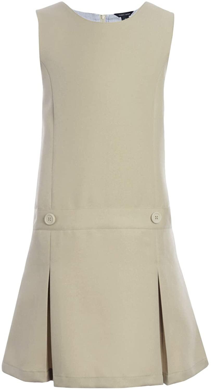 Tommy Hilfiger Girls Solid Jumper Dress, Kids School Uniform Clothes, Little, Big, Or Plus Size