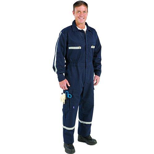 TOPPS SAFETY PC01-1805-Short Medium PC01-1805 Men's Long Sleeve Over-The-Clothes Fit Uniform Suit, Short, Medium, Navy Blue