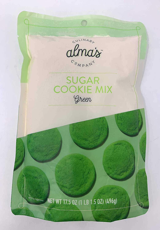 Almas Culinary Company Sugar Cookie Mix, Green, 17.5 oz