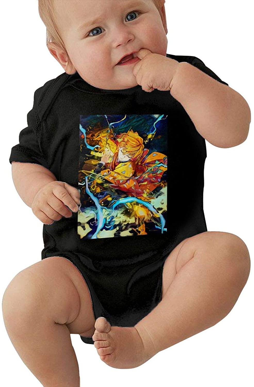 BAIJEN Thunderclap and Flash Baby Climbing Clothes Short Sleeved Comfortable Soft Cotton