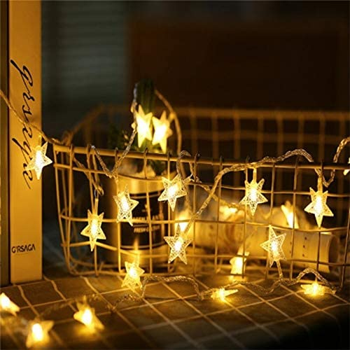 Warm Lighting Fairy Lights,1m / 3m / 6m / 10m Led Led Fairy Lights, Battery Powered Christmas Lights for Christmas Decorations Beautiful (Color : Warm White, Size : 10M 80LEDs)