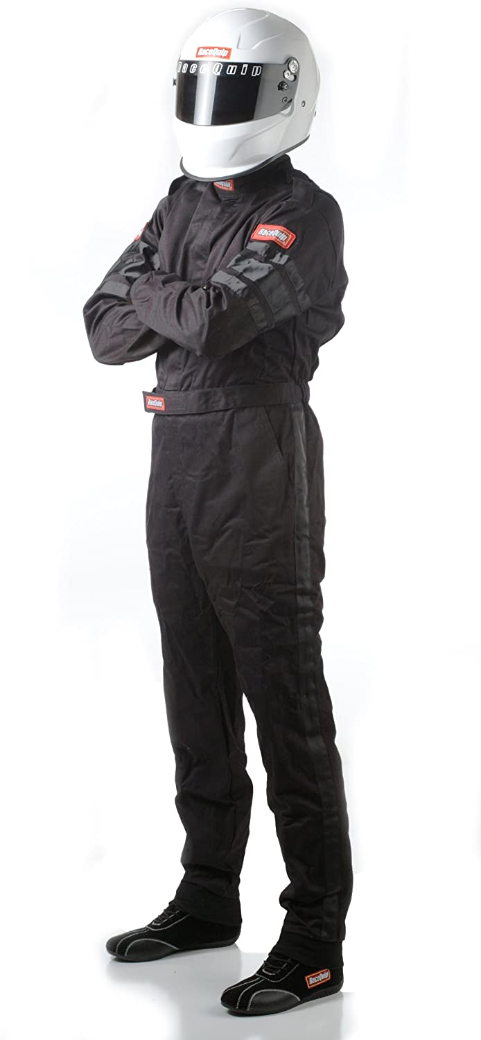 RaceQuip 110007 110 Series XX-Large Black SFI 3.2A/1 Single Layer One-Piece Driving Suit
