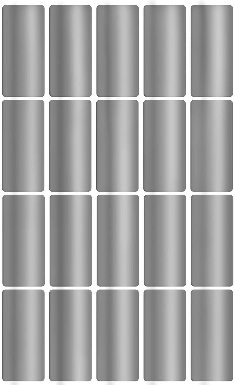 Royal Green Rectangular Silver Foil Labels 40mm x 19mm (1.57 inch x 0.75inch) Metallic Envelope Seals 100 Pack