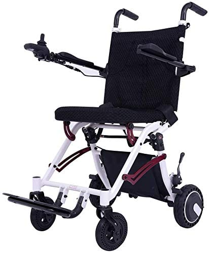 Rubicon Super Lightweight Electric Wheelchairs, Weight Only 36Lbs Support 220 Lbs, Foldable, Travel Power Wheelchair for Adults.
