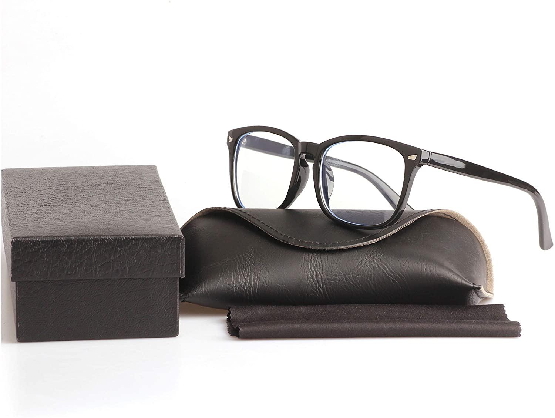 Blue Light Blocking Glasses Computer Eyewear Anti Eyestrain UV Clear Lens Gaming Glasses