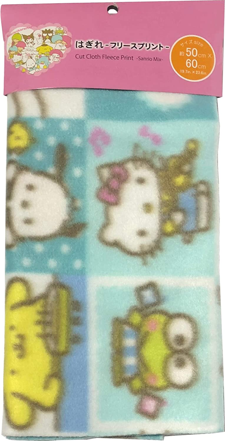Sanrio Characters Cut Cloth 50×60cm Polyester Freeze Craft Fabric Patchwork Scrapbooking (Blue)