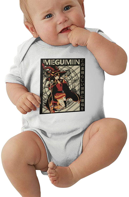 BAIJEN Konosuba Megumin Baby Climbing Clothes Short Sleeved Comfortable Soft Cotton