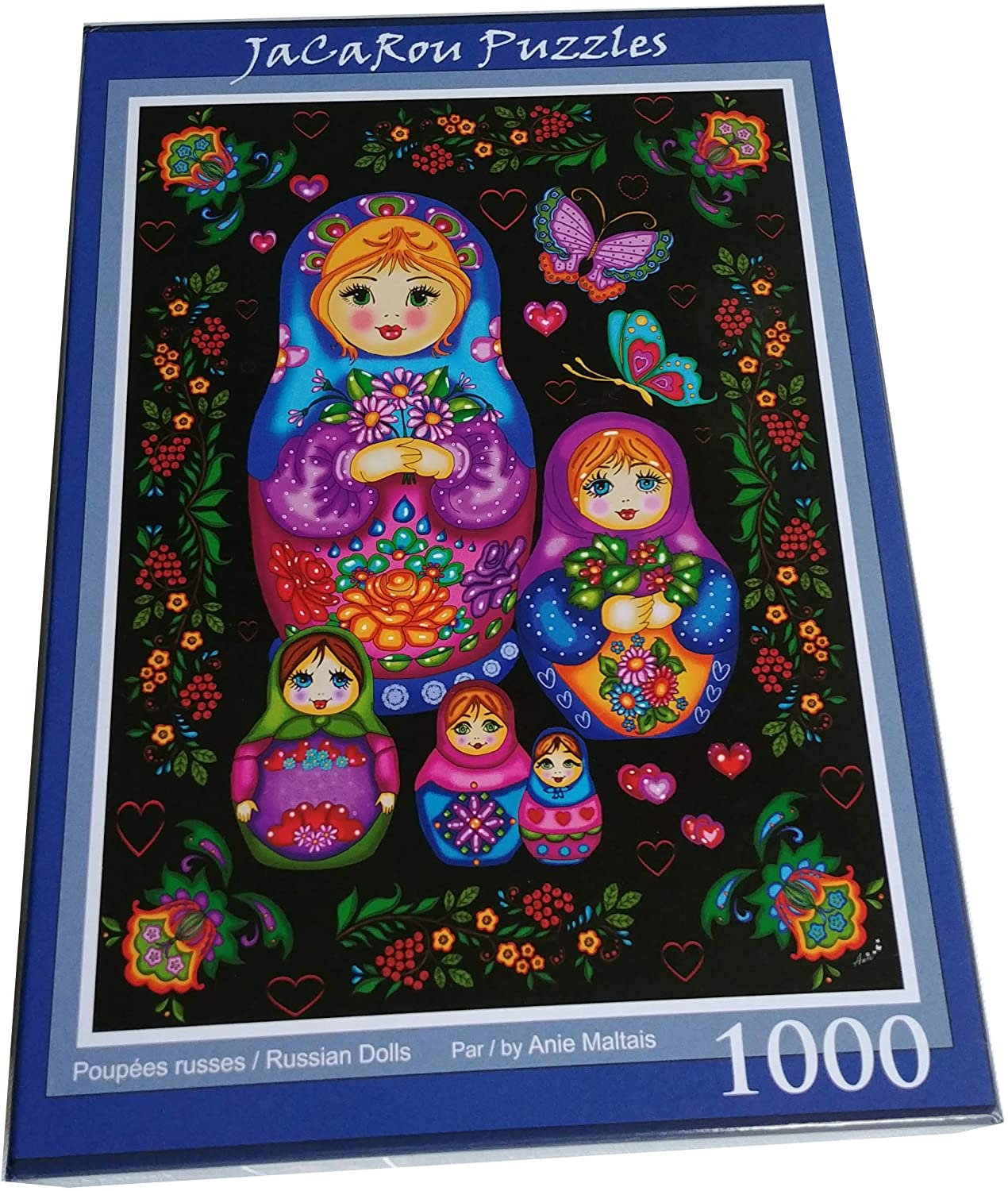 JaCaRou Puzzles Russian Dolls 1000 Pieces Jigsaw Puzzle