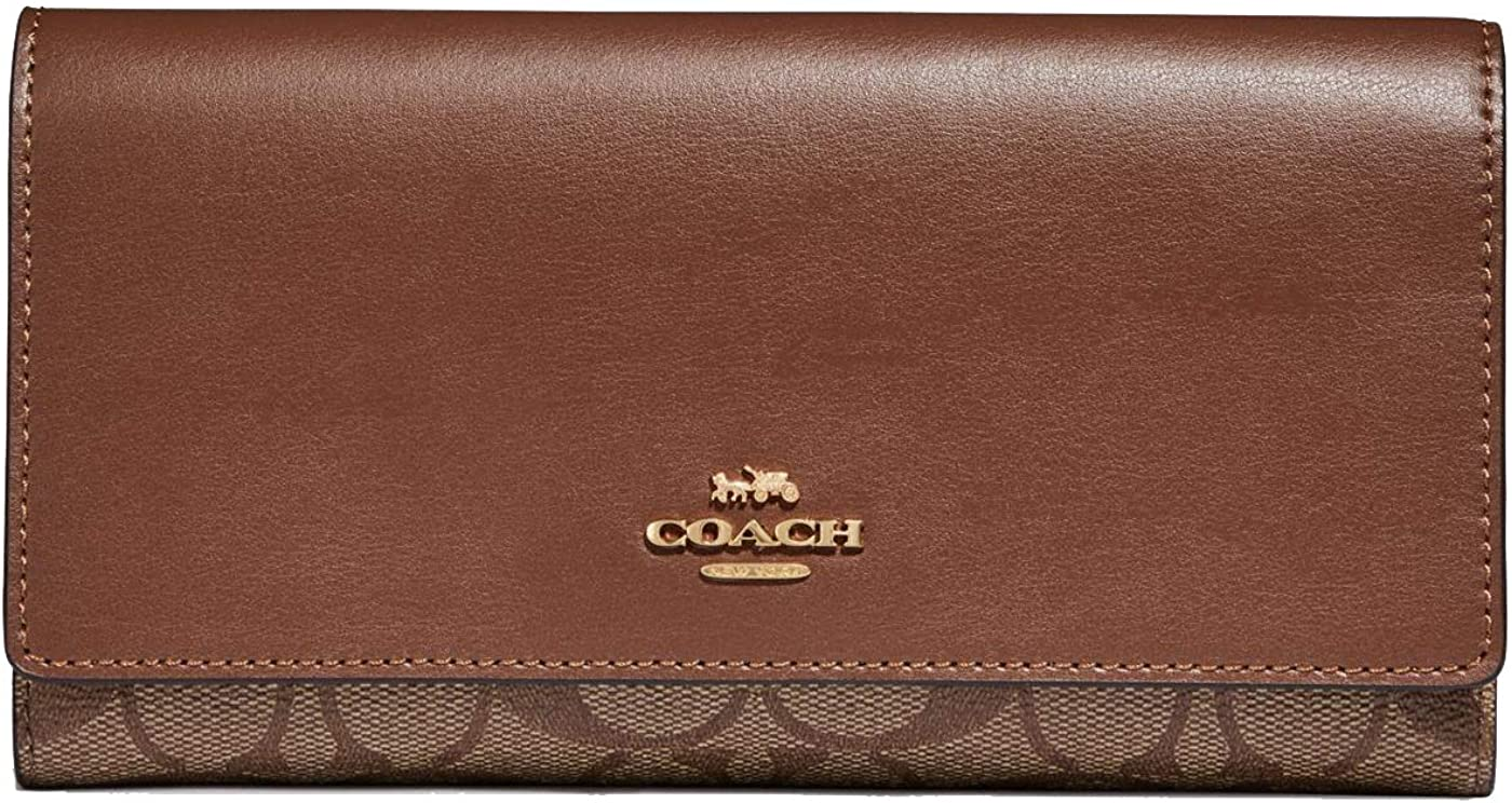 Coach Signature Leather Trifold ID Wallet - #F88024