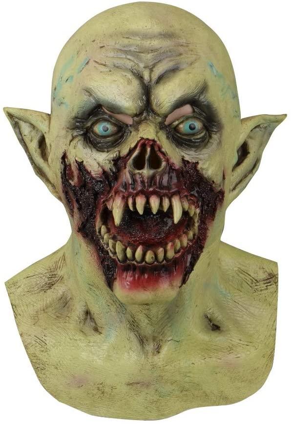 Zaoyeqi-a Fszhen-MIANJ Halloween Masks Latex Party Horrible Scary Prank Bloody Horror Mask Fancy Dress Cosplay Costume Mask Masquerade