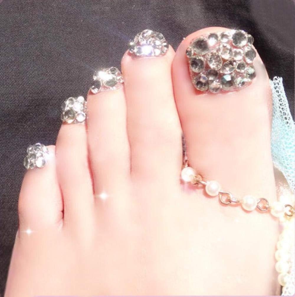 ZHFFYY fake nails Nail Wearable Nail Full Drill Nails Toe Nail Finished Patch False Nail Nail Phototherapy Nail 10PC