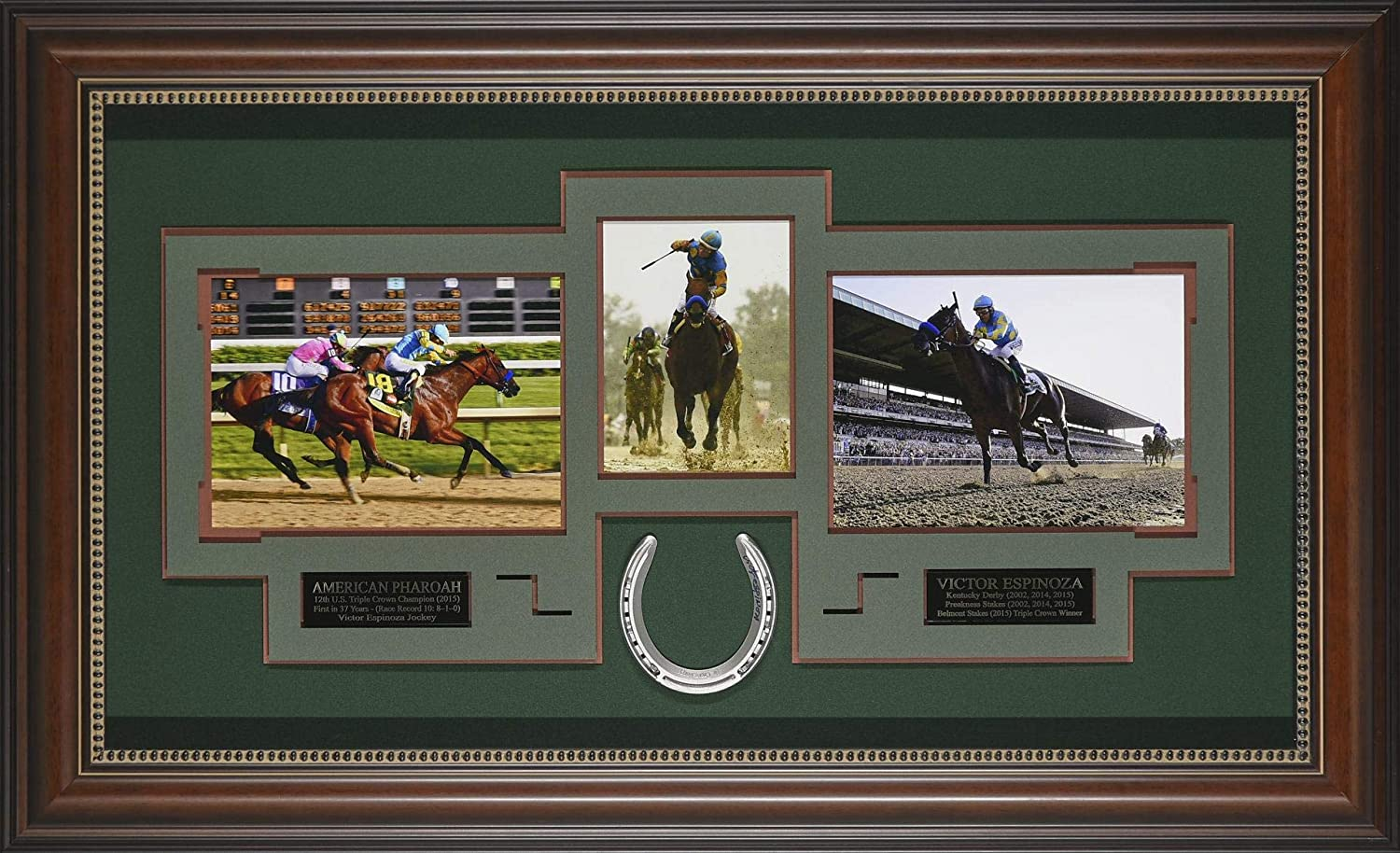 American Pharaoh – Victor Espinoza Signed Display. 43×26 - Horse Racing Plaques, and Collages