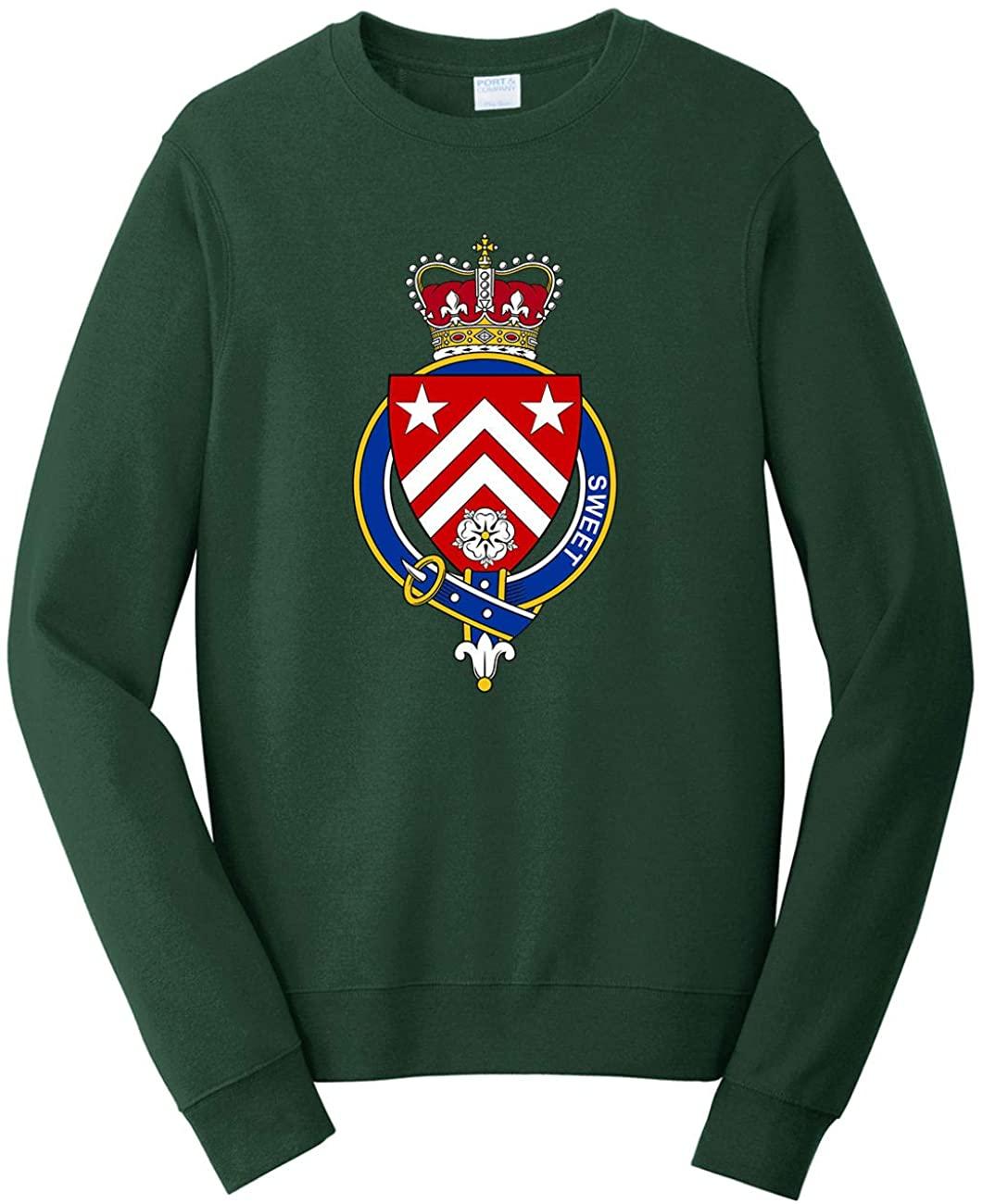 HARD EDGE DESIGN Men's English Garter Family Sweet Sweatshirt, Large, Forest Green