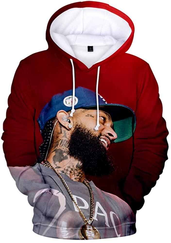 Picess Nipsey Husle 3D Hoodie Rapper Merch for Men Women Teen Unisex Soft Qualified Fabric